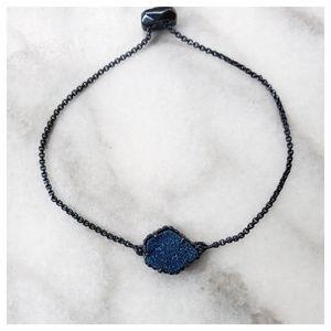 Kendra Scott Theo Adjustable Bracelet Blue Drusy